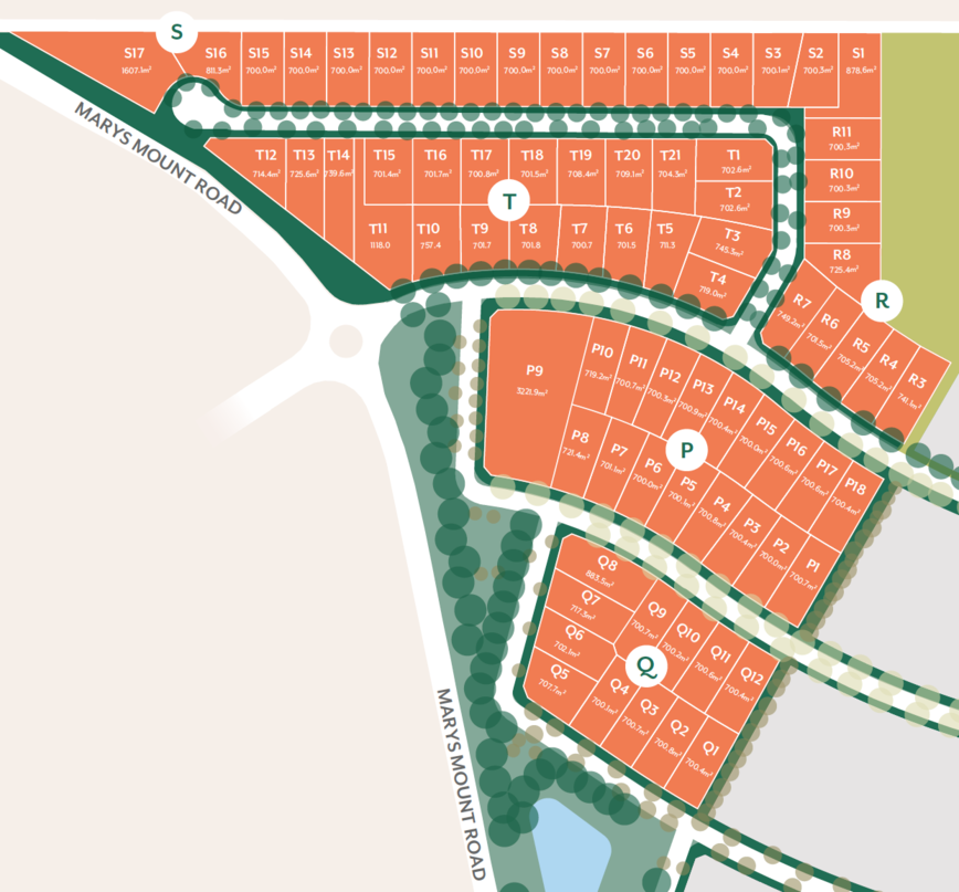 Blocks and Sales map of the Teneriffe land release